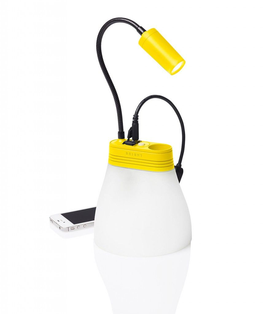 Essential Survival Tools – SunBell Solar Lamp and Phone Charger – YELLOW
