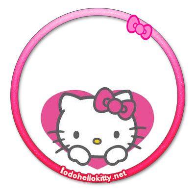 Stickers circulares Hello Kitty descarga gratis | Todo Hello Kitty