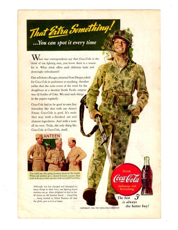 Vintage Coca Cola Advertisement - 1943 Ad - Home Decor