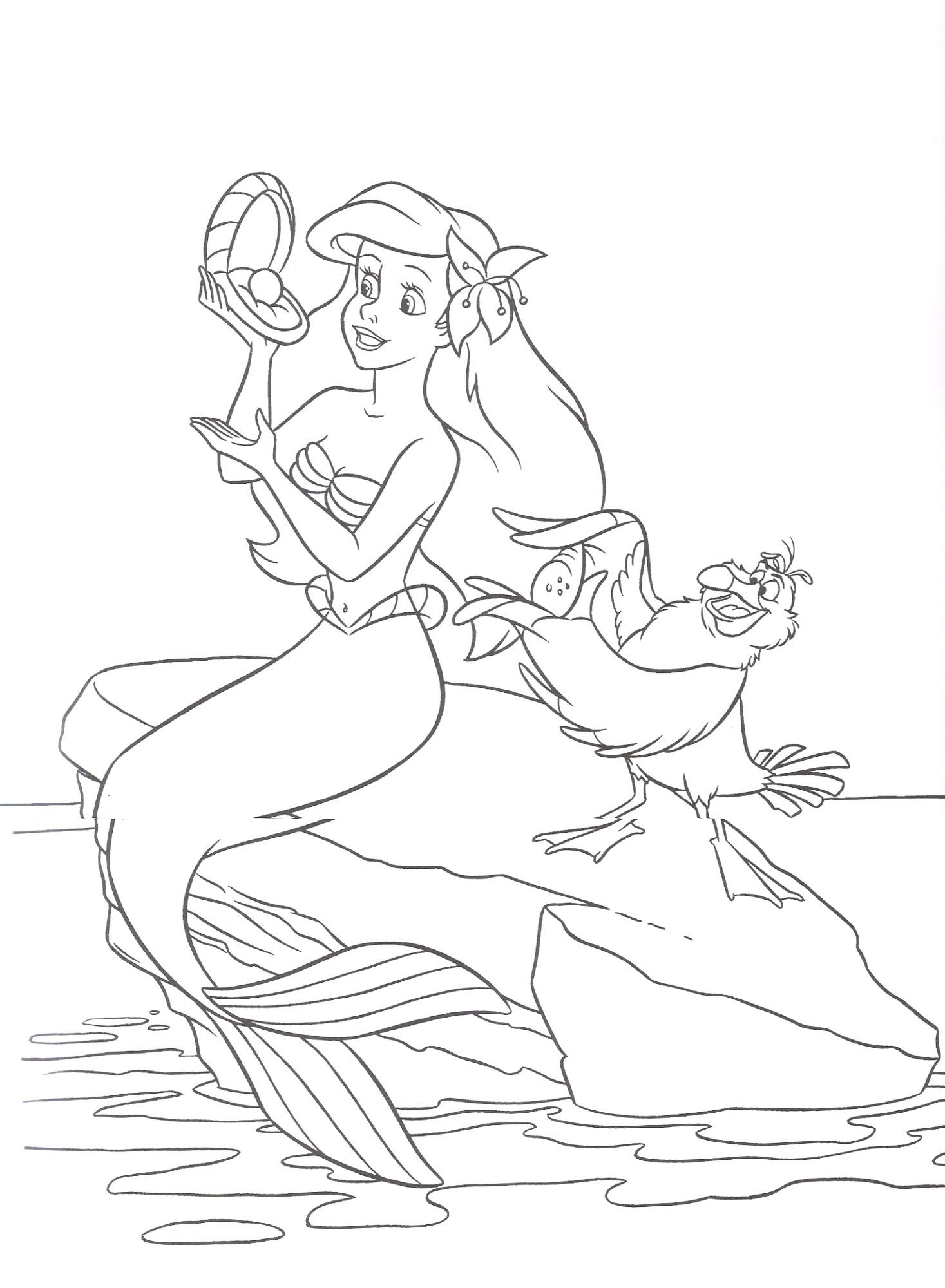 Little mermaid disney ariel coloring pages - Free Coloring Page Ariel From The Little Mermaid Disney Princess