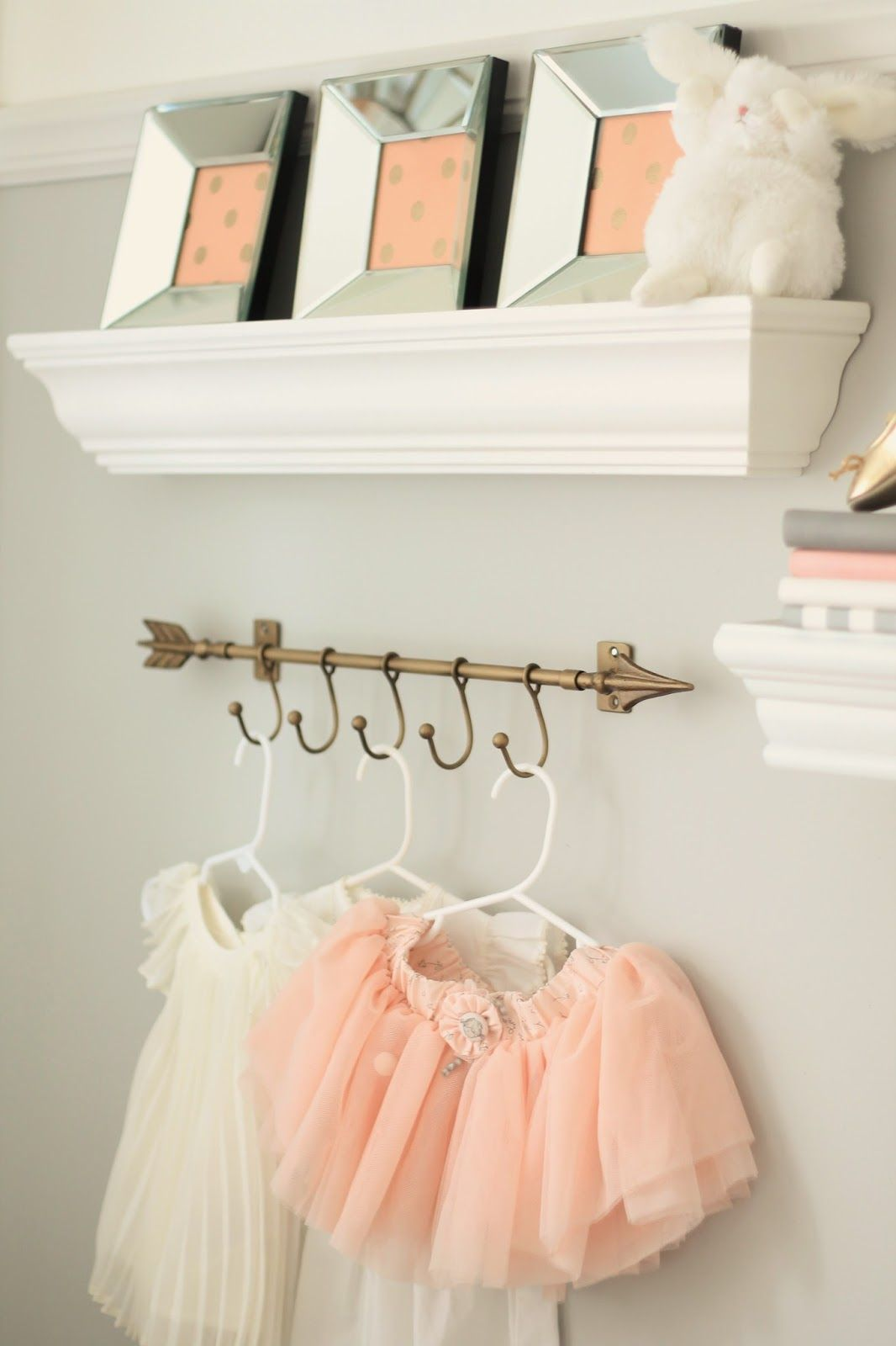 Peach and gray nursery reveal baby girls am and i am