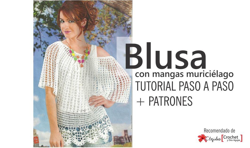 Tutorial Paso a Paso + Patrones: Blusa con mangas murciélago a ...