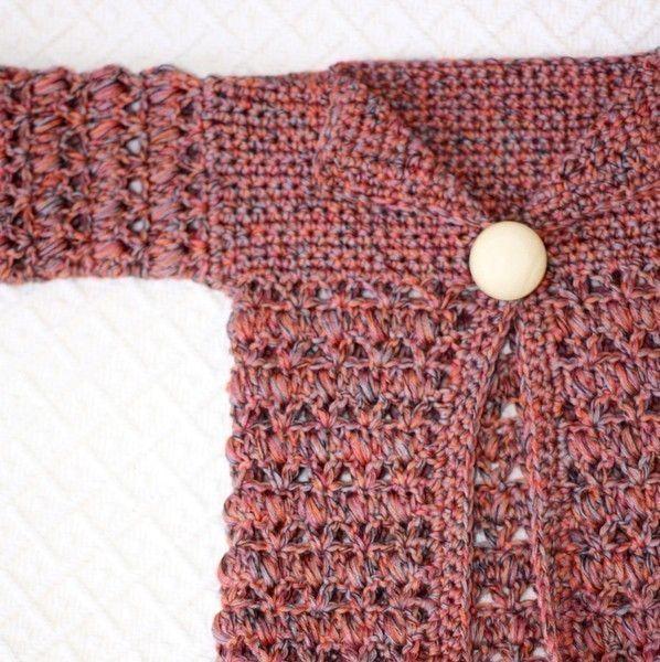 Crochet PATTERN Baby Bobble Cardigan | varios | Pinterest | Varios