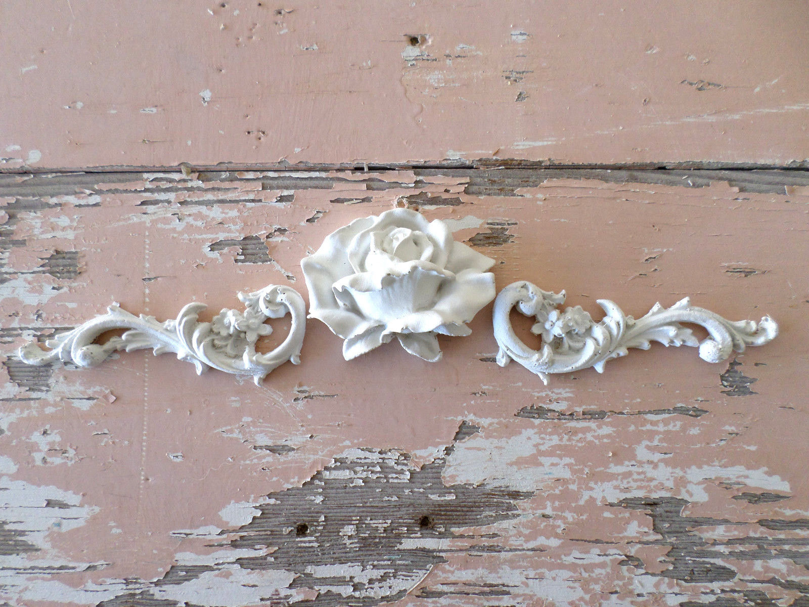 $13 5 Shabby & Chic Architectural Furniture Appliques Florals