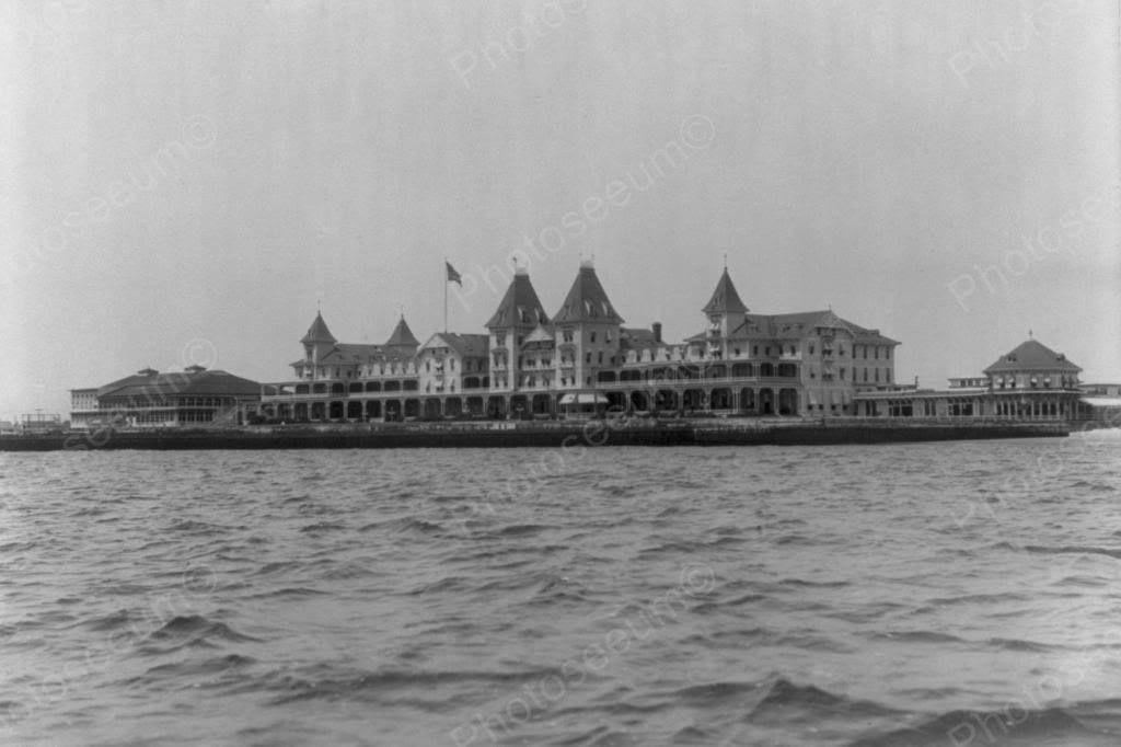 Coney Island Brighton Beach Hotel 1900s 4x6 Reprint Of Old Photo