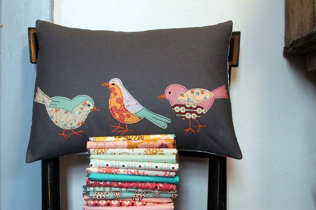 Summerlove Spring Birdie Pillow! - by Maureen Cracknell Handmade <3