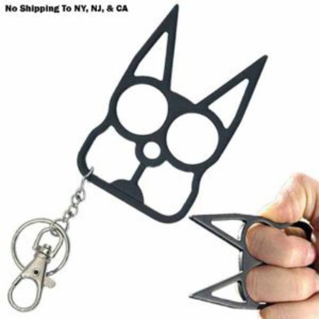 Amazon Com Cat Self Defense Keychain Black Everything Else