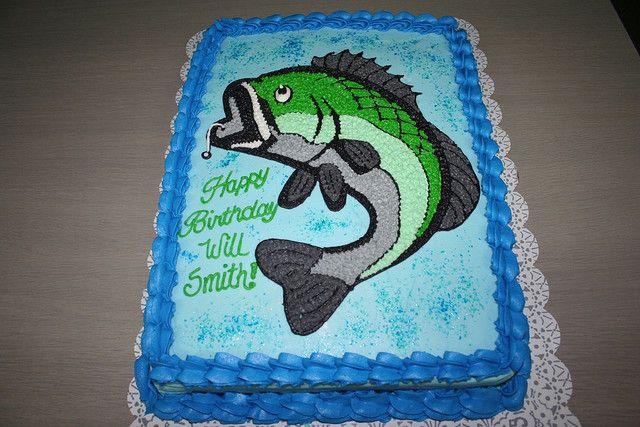 Bass Fishing Cake Fish Cake Birthday Fish Cake Bass Fish Cake