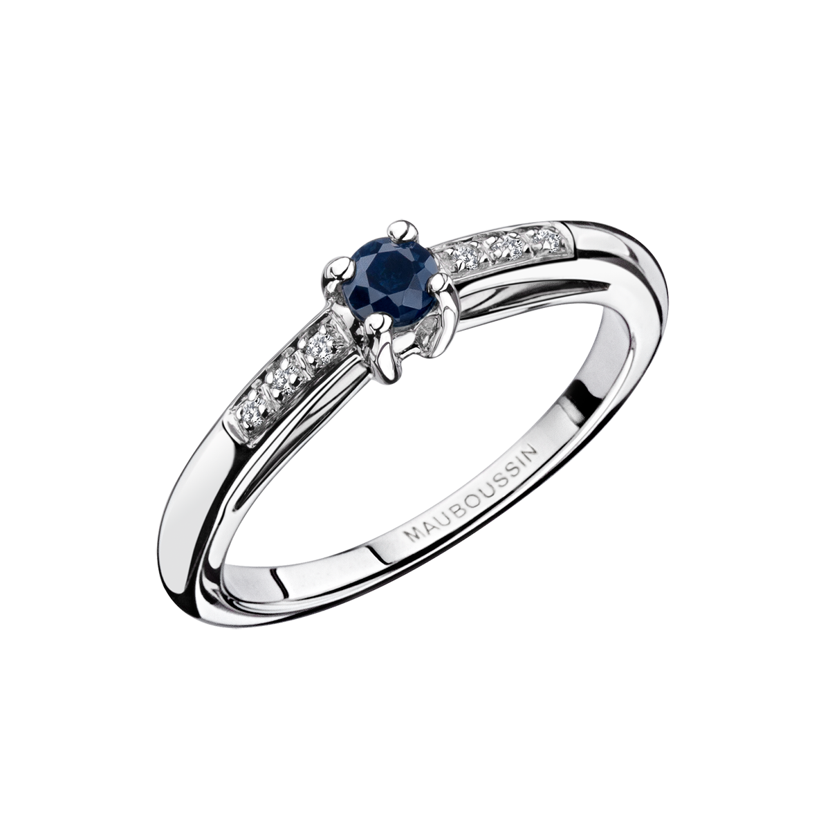 Top Bague Petit mot d'Amour, or blanc, saphir et diamants - Mauboussin  GA58