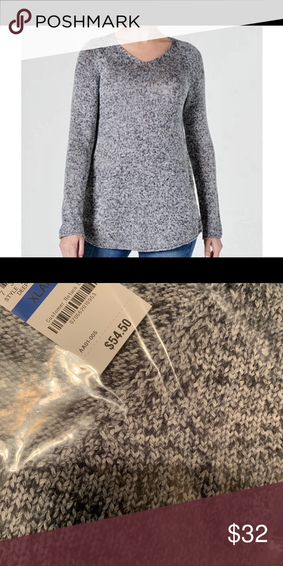 Style & Co Ladies XL Sweater Blk/Wht, New W/Tags