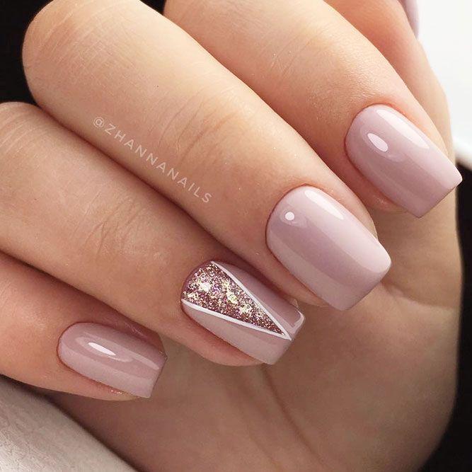 42 lindos diseños de uñas de invierno que inspirarán tu estado de ánimo de invierno – Uñas -…