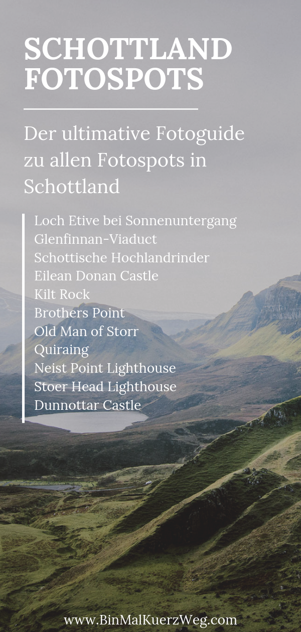 Schottland Fotospots – Roadtrip Schottland