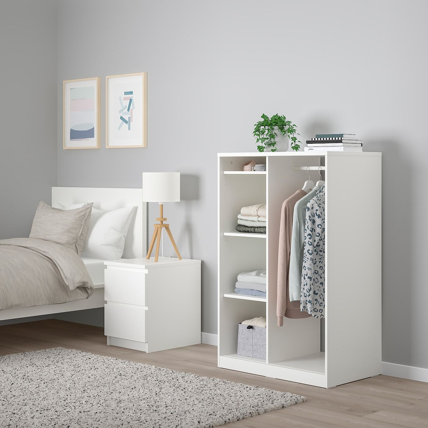 Syvde Open Wardrobe White Ikea Ikea Bedroom Furniture Ikea Closet Design Ikea Bedroom Sets