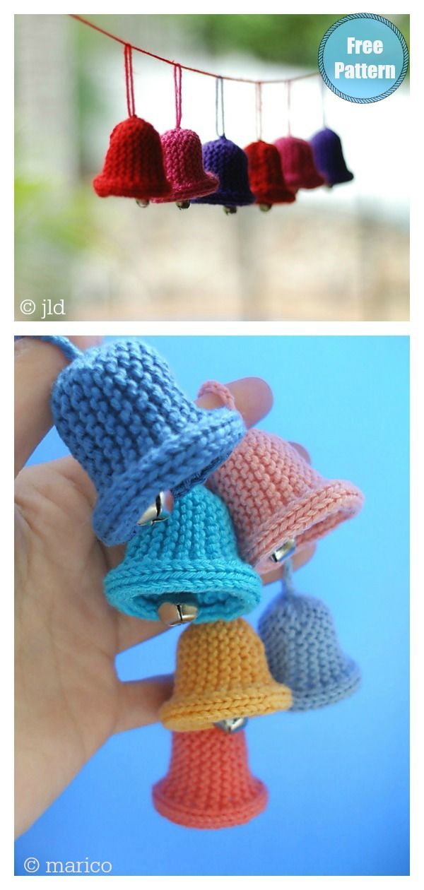 Photo of Christmas Bell Ornament Free Knitting Pattern