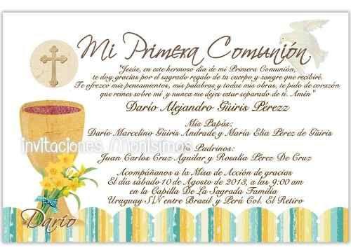 invitaciones de primera comunion con foto
