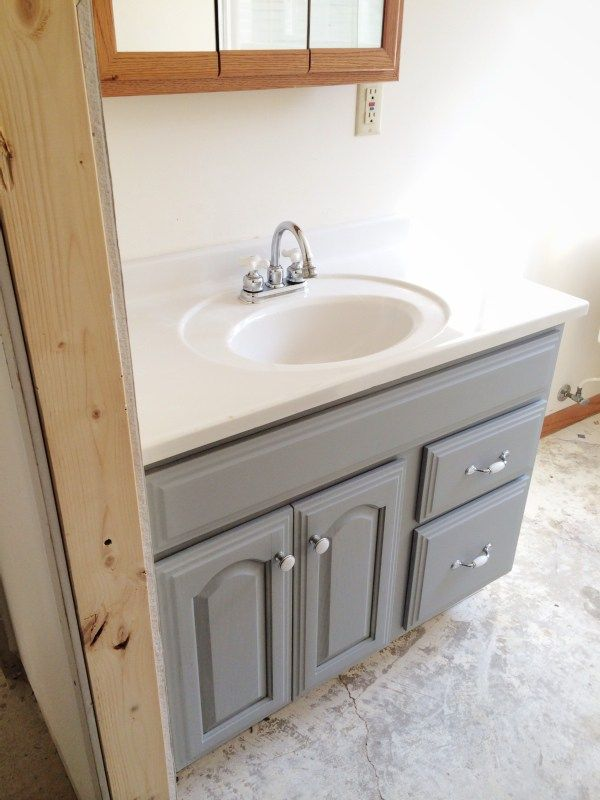Genial Painted Bathroom Vanity   Michigan House Update