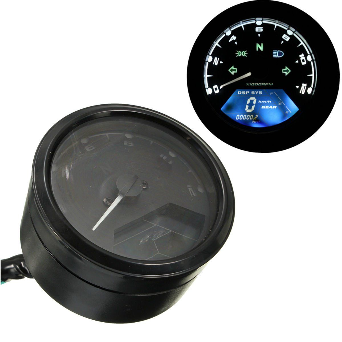 12000RPM+LCD+Digital+Odometer+Speedometer+Tachometer+F1+2+4+Cylinders+Motorcycle+db