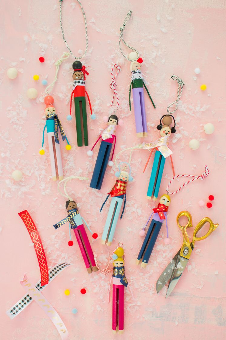 Clothespin People Ornaments Christmas Ornaments Homemade