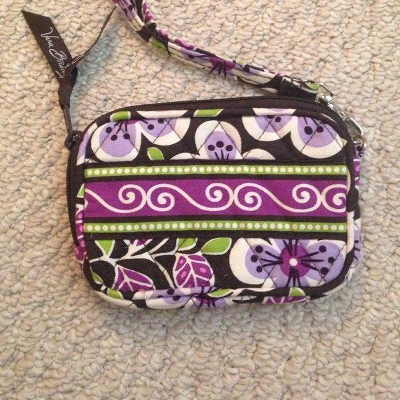 Vera Bradley wristlet Never used. Pocket inside Vera Bradley Bags Clutches & Wristlets