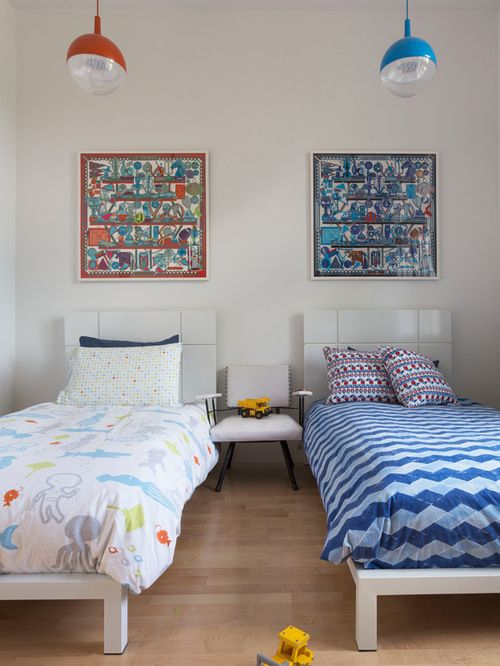 Kids Room With Two Beds Ideas Pictures Remodel And Decor Modern Kids Bedroom Stylish Bedroom Design Stylish Bedroom