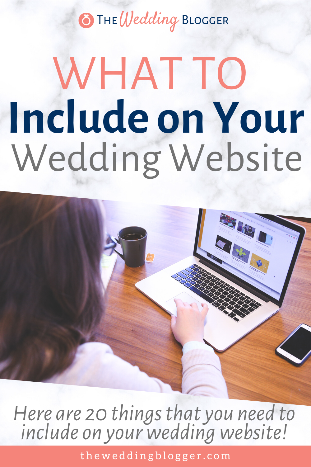 Find out what to put on your wedding website and other