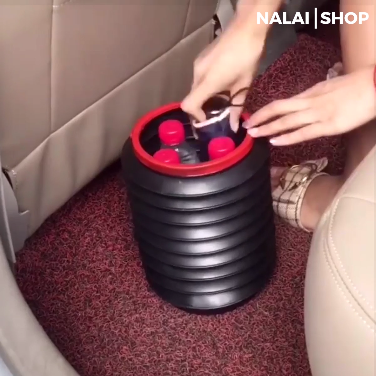 This Car Folding Bin can be stretch at your will to be portable storage. With high-quality plastic that is thick and tough. It is half-folded that the mouth of the barrel can be stretched at any angle. And with sufficient durable materials, folding and stretching can be up to tens of thousands of times. Get it today!
