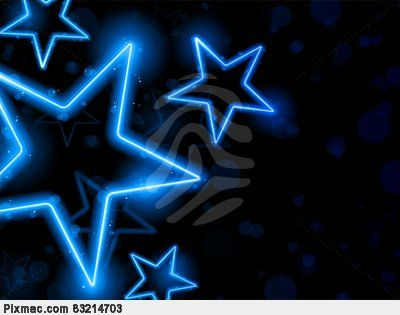 Glowing Neon Stars Background Star Pixmac Illustration 83214703
