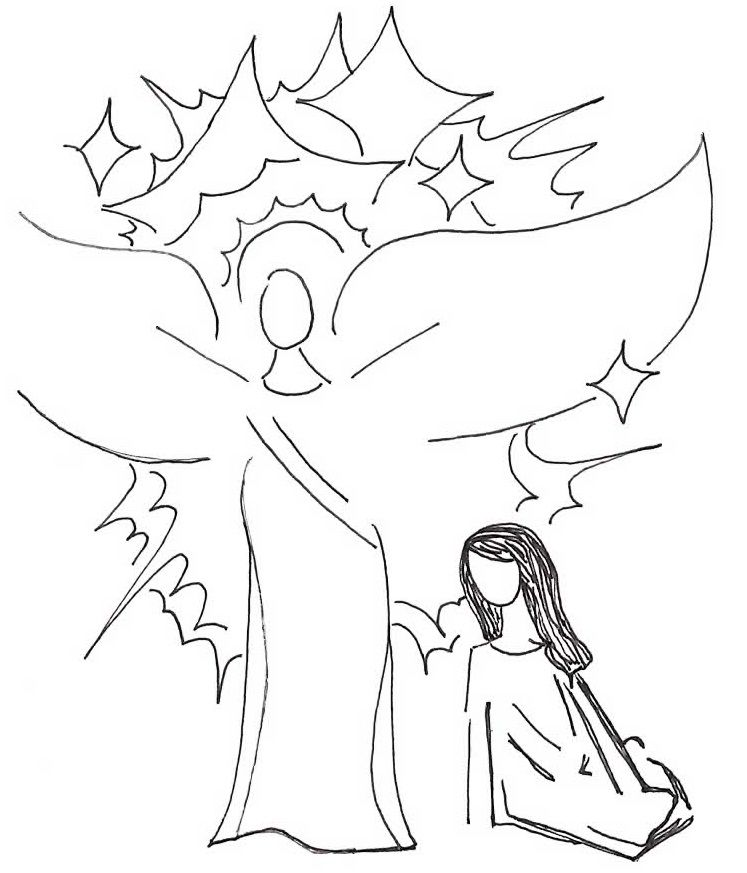 The Angel Appears To Mary Gabriel Angel Mary Bible Doodle