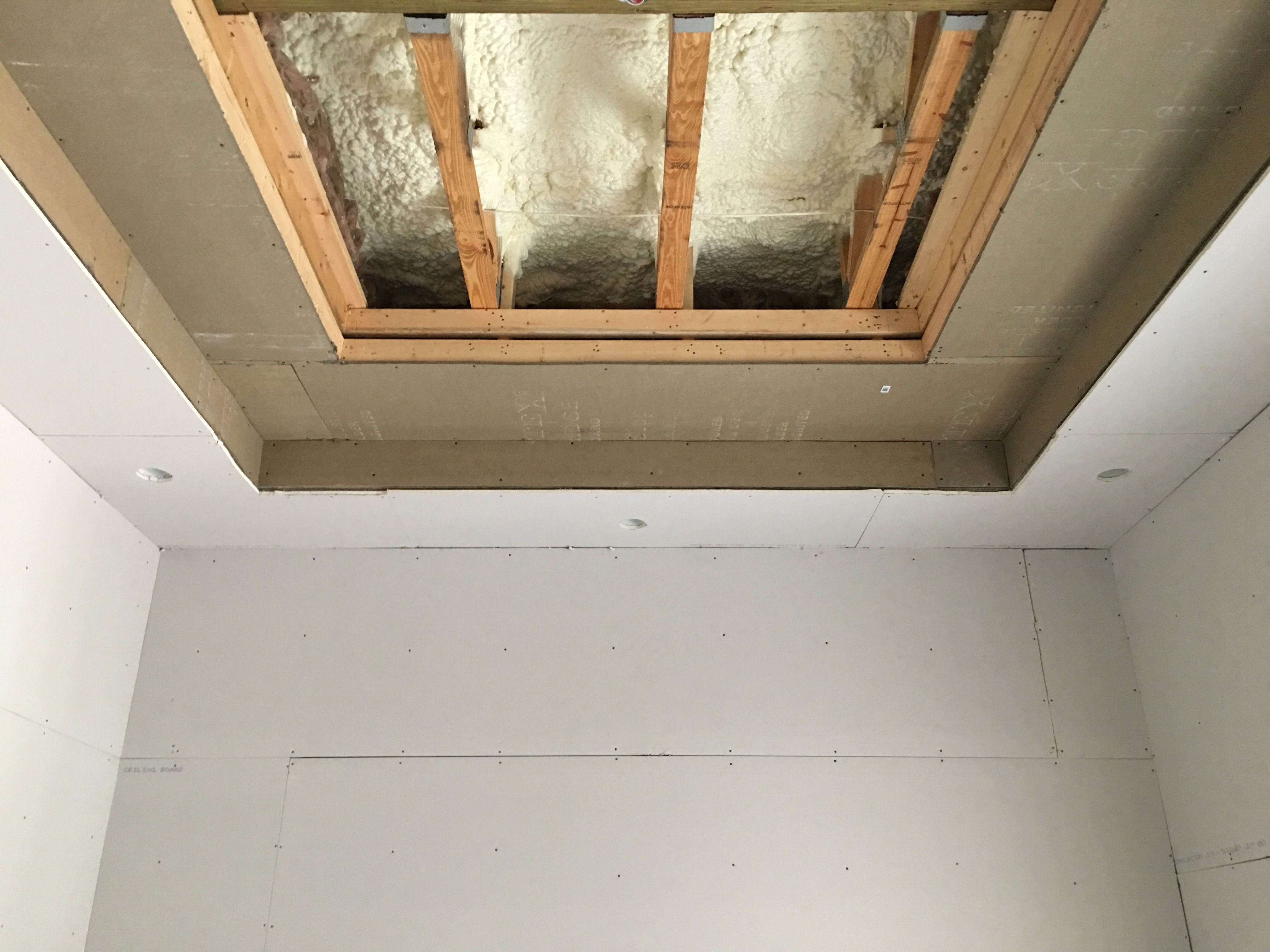 We Insulate Our Cinema Rooms With Spray Foam Insulation At Walls Ceilings Follow With Installing Sound Proof Cinema Room Custom Homes Spray Foam Insulation