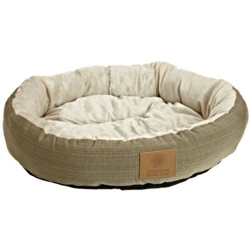 American Kennel Club Casablanca Round Solid Pet Bed