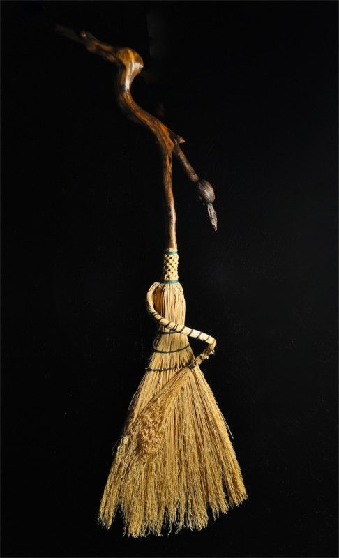 Mark Hendry. Faerie Broom w/ knotty driftwood handle