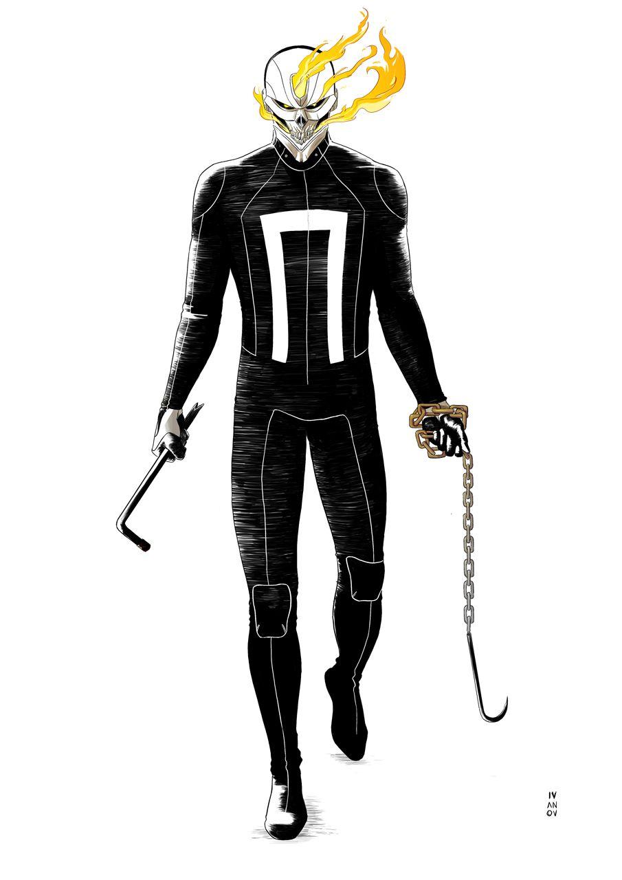 Ghost Rider - Dima Ivanov | Marvel | Pinterest | Ghost rider ...