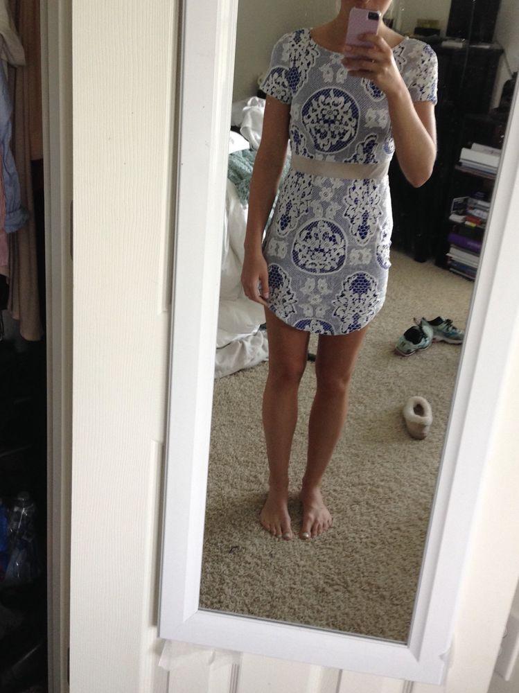 White  Lace Party Bodycon Dress Size 6  RRP £58 Lipsy Brand New Black