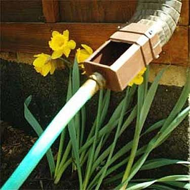 Excellent Idea Attach To Down Spout On Guttering And Redirect Rain Water To Where It Can Be Needed Most Rainwater Harvesting Water Conservation Downspout