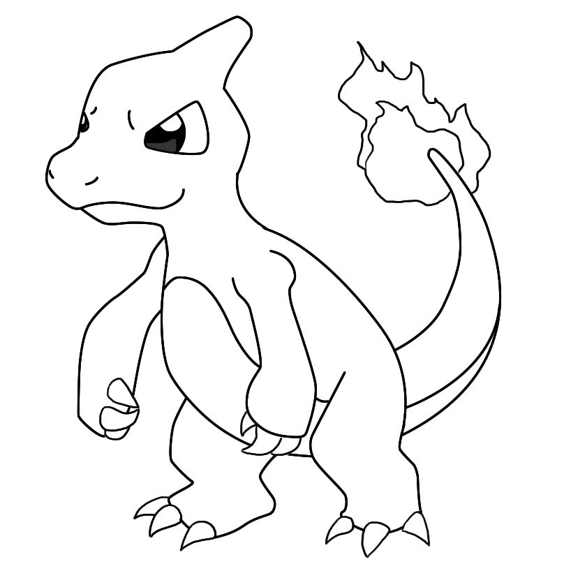 How To Draw Charmeleon Pokemon Coloring Pages Pokemon Coloring