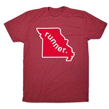 Mens Lifestyle Runners Tee Missouri State Runner | Running Mens Cotton Tshirts