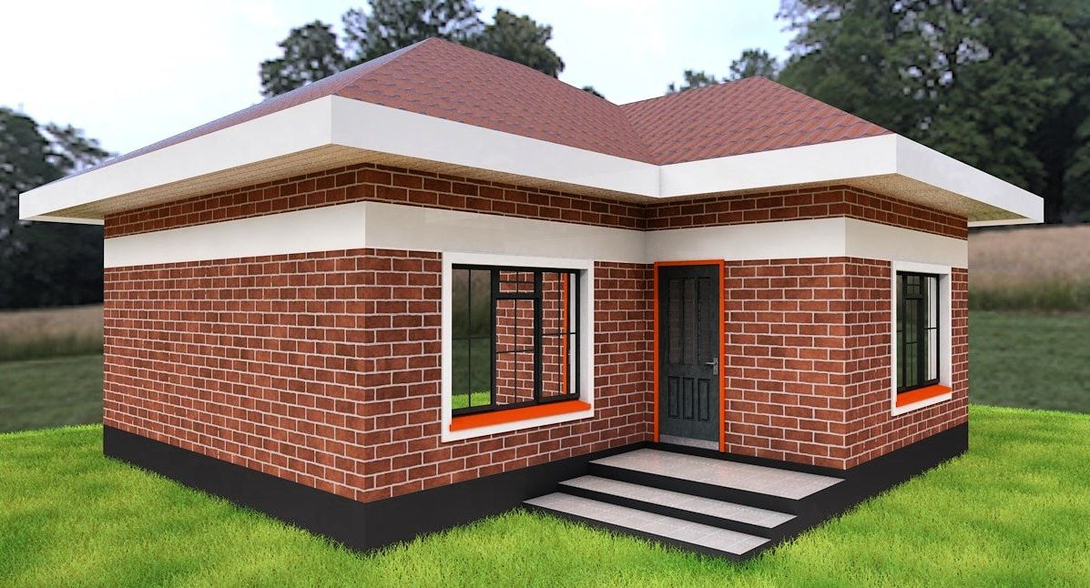 2 Bedroom Simple House Plan Muthurwa Com Brick House Plans Beautiful House Plans Simple House Plans