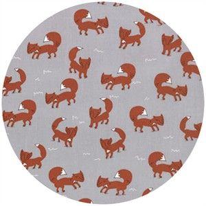 Aneela Hoey, Walk In The Woods, Foxlets Grey fabricworm