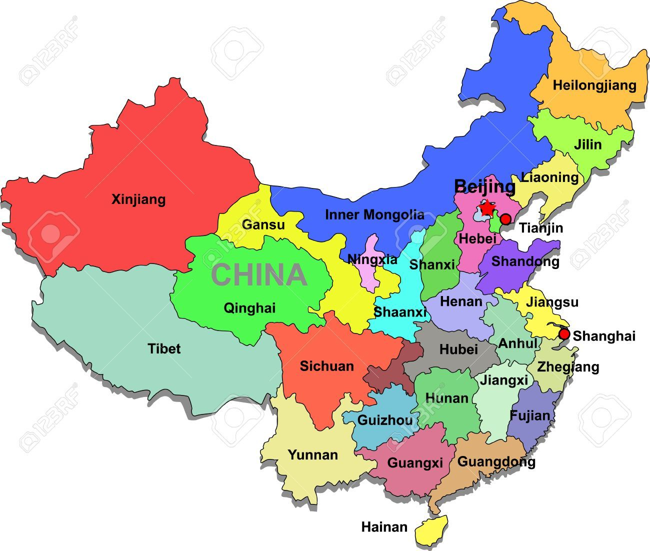 China Relief Map Maps Of China Topography China Map Travel