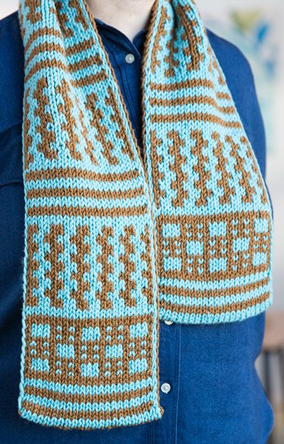 Free Knitting Pattern for Double Knit Scarf - Learn to double knit ...
