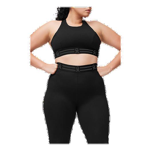 Good American Women's Crossback Icon Sports Bra Black