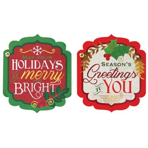 The Gift Wrap Company 6 Count Self-Adhesive Holiday Cards... https ...
