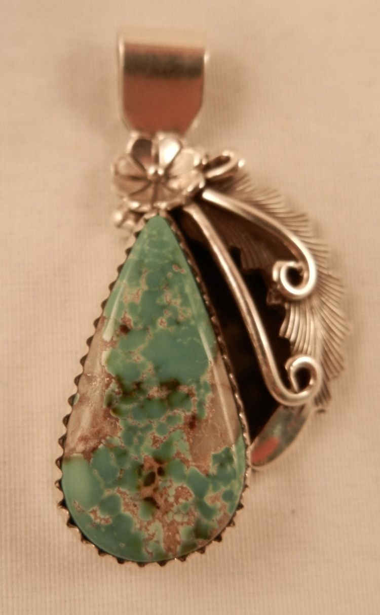 Navajo peterson johnson small turquoise and sterling