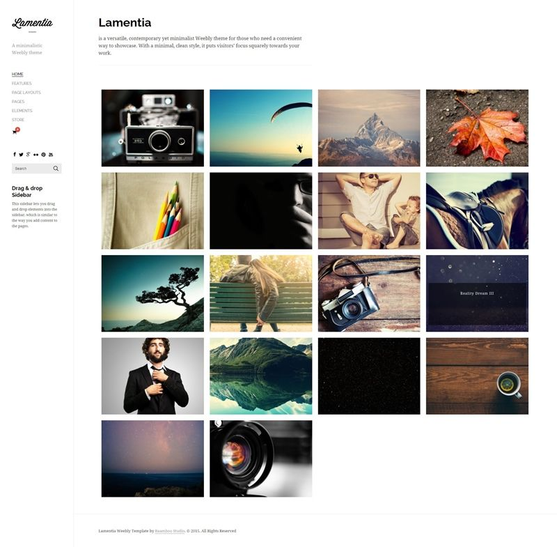 Weebly Blog Template Of The Year Lamentia Theme Weebly Themes Weebly Design Weebly Template