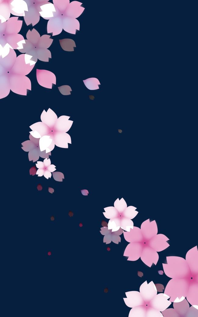 Falling, Pink, Background, Flowers PNG Transparent Clipart Image and PSD File for Free Download