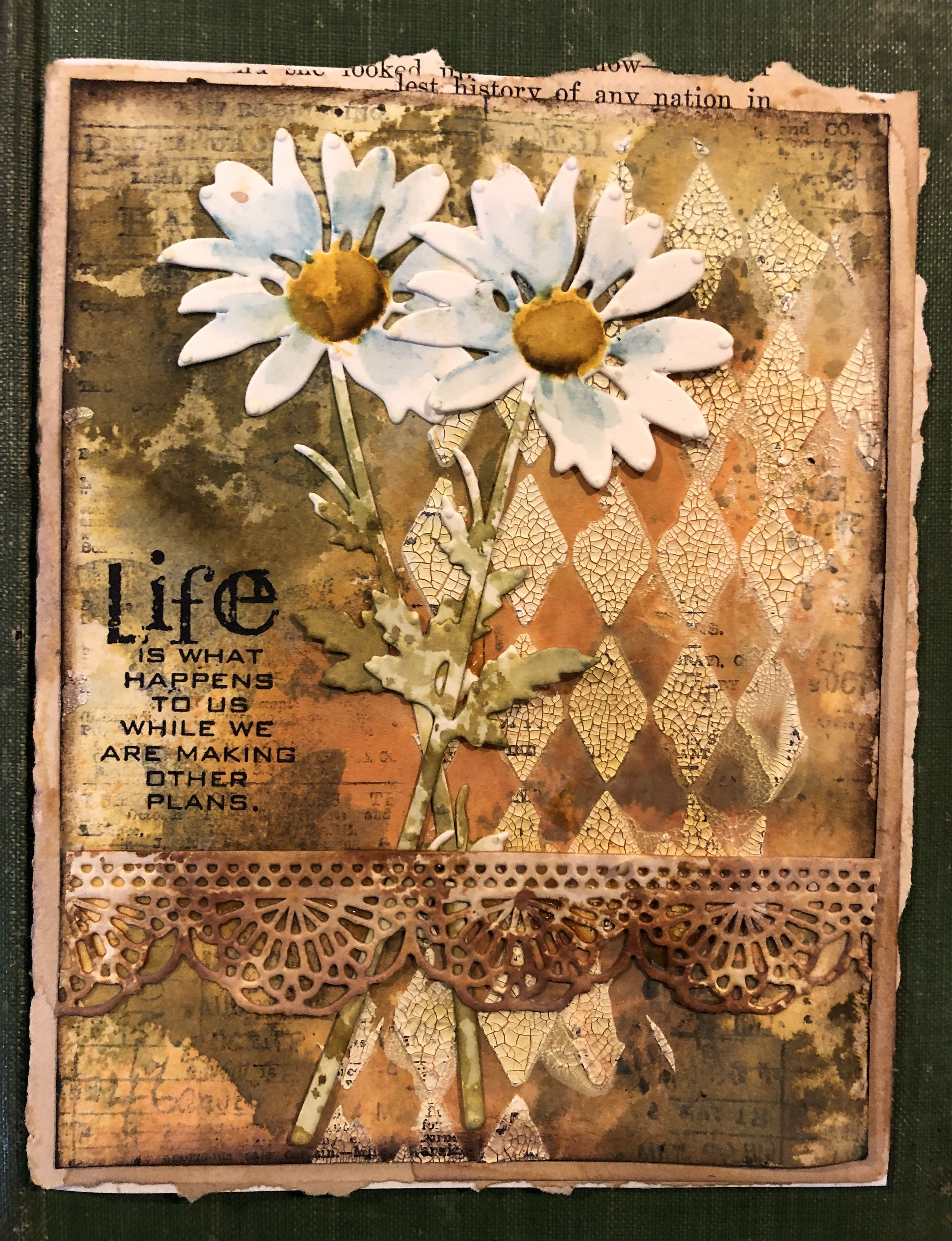 Flower Art Tim Holtz Cards Tim Holtz Sizzix Cards A wide variety of daisy brown options are available to you, such as material, age, and occasion. pinterest