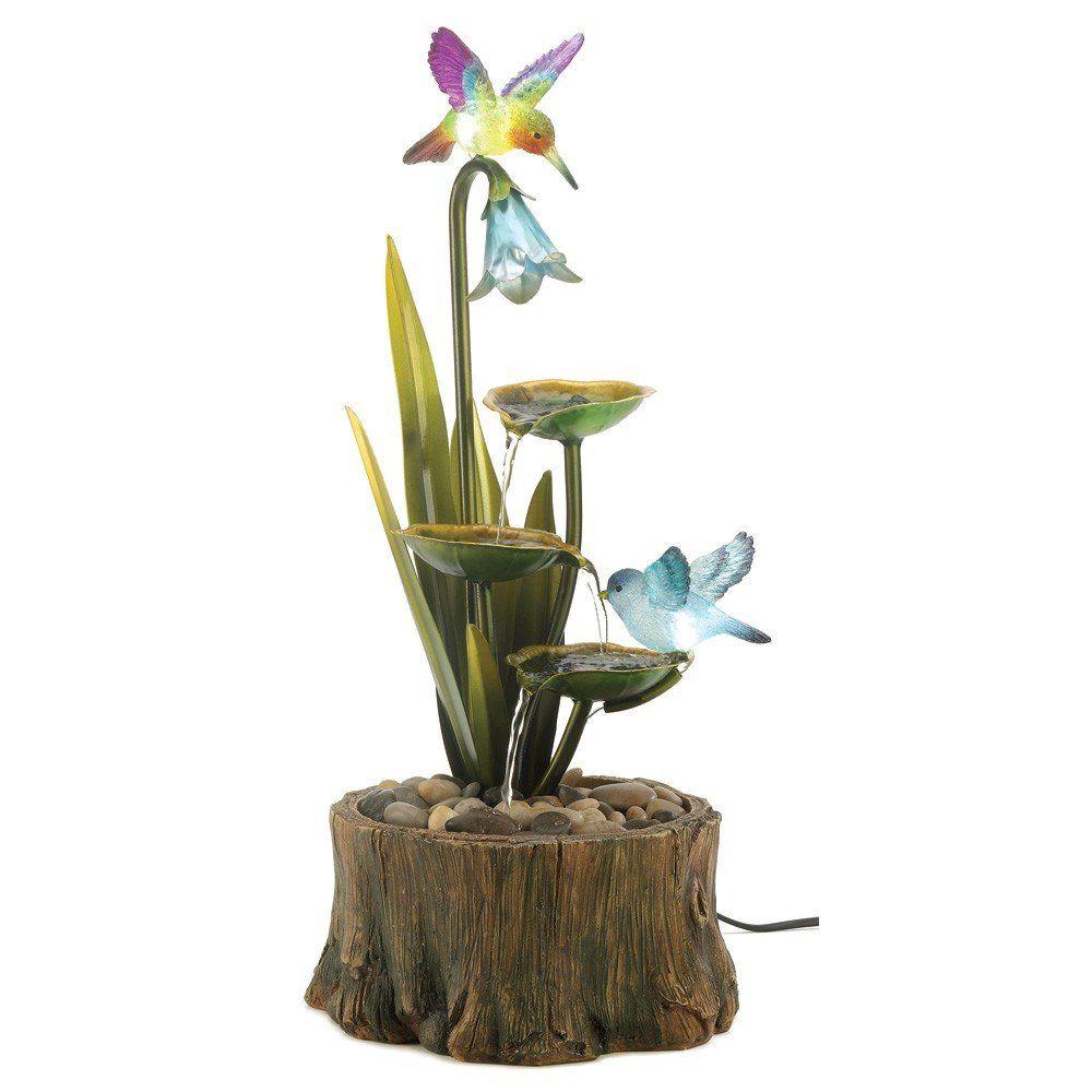 Amazon.com - Hummingbird Haven Home Garden Decor Water Fountain - Free Standing Garden Fountains - $162.00