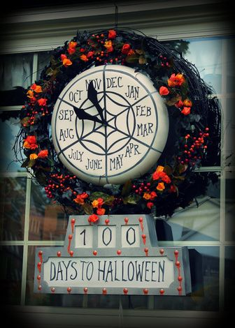 christmas blown plastic lollipop turned into nightmare before christmas countdown clock love this - Nightmare Before Christmas Clock
