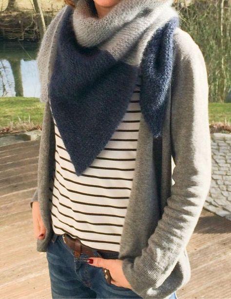 Photo of How to knit a triangular scarf Knit Knit Berlin, #Instructions #Berlin #Dreieckstuch #Knit #st …