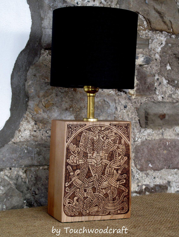 Viking table lamp norse viking art pagan heathen larp